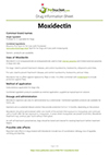 Moxidectin drug information sheet