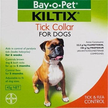 Kiltix Tick & Flea Collar - Protects up to 5 Months
