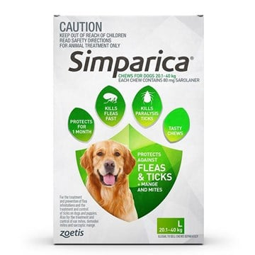 Simparica for Dogs 44.1-88 lbs (20-40 kg) - 3 Pack