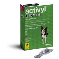 Activyl Tick Plus Spot-On for Medium Dogs 22-44 lbs (10-20 kg) - 4 Pipettes