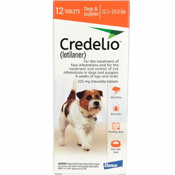 Credelio Orange Medium Dogs 12.1-25 lbs (5.5-11 kg) 12 Pack
