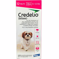 Credelio Pink Small Dogs 6.1-12 lbs (2.5-5 kg) 12 Pack