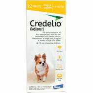 Credelio Yellow Extra Small Dogs 4.4-6 lbs (1.3-2.5 kg) 12 Pack