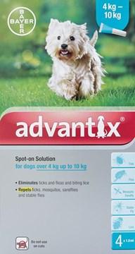 Advantix Dogs 8.8-22lbs (4-10kg) - 4 Pack