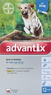 Advantix Dogs Over 55lbs (25kg) - 12 Pack