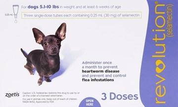 Revolution Purple Dogs 5-10lbs (2.3-4.5kg) - 3 Pack