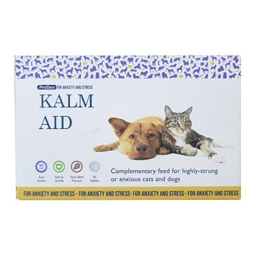 Kalm Aid Tablets for Cats & Dogs - 30 pack