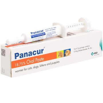 Panacur Oral Paste Syringe for Dogs & Cats - 5g