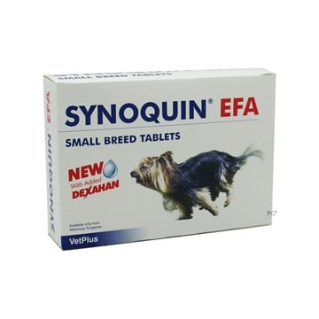 Synoquin EFA Tablets for Small Dogs Under 20 lbs (10 kg) - 90 Pack