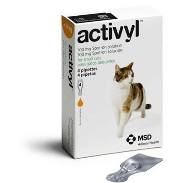 Activyl Spot-On for Cats And Kittens 2-9 lbs (1-4 kg) - 4 Pipettes