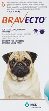 Bravecto Orange For Dogs 9.9-22 lbs. (4-10 kg.) - 6 Chews
